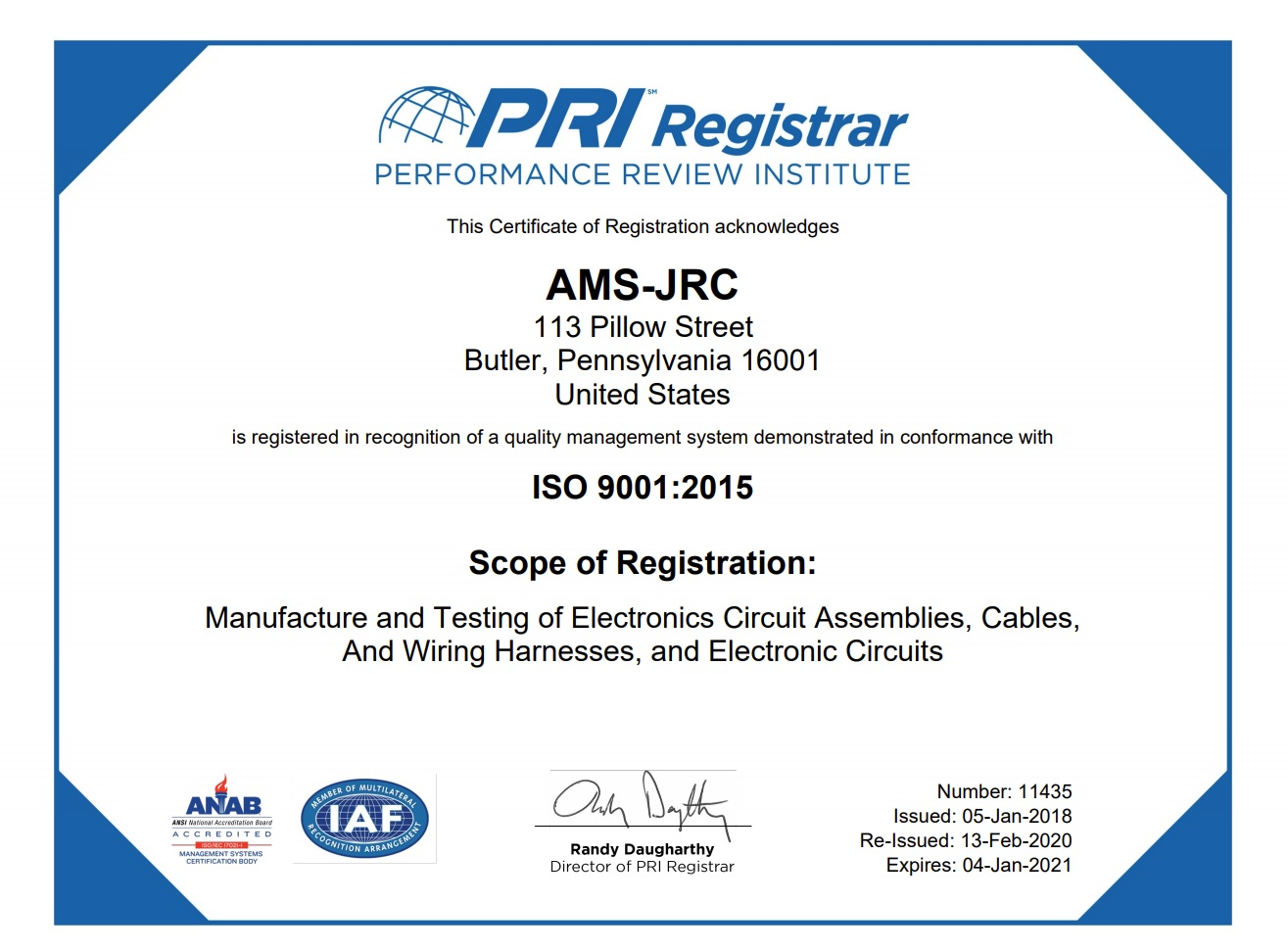 ISO CERTIFICATION ISO 9001:2015